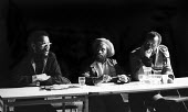 Jim Pines, Menelik Shabazz and Tony Dennis, Black Writers In Britain Conference 1982, The Factory, Westbourne Park London - Rick Matthews - 11-12-1982