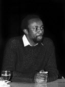 Jim Pines speaking Black Writers In Britain Conference 1982, The Factory, Westbourne Park London - Rick Matthews - 11-12-1982
