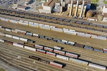 Dearborn, Michigan, USA. CSX rail yard, Ford River Rouge industrial complex - Jim West - 12-08-2020
