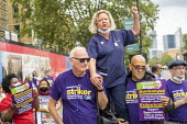 Janet Maiden, UCLH nurse speaking in solidarity with Tower Hamlets council workers UNISON strike against Tower Rewards, a contract imposing worse terms and conditions, Whitechapel, London. - Jess Hurd - 17-08-2020