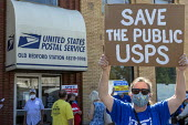 Detroit, USA Rally to save the US Postal Service, Old Redford Branch which is to close. APWU Save The Public USPS - Jim West - 20-08-2020