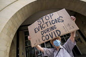 London Renters Union protest for eviction ban extension, Stratford Magistrates Court. They also want rent debt to be cancelled and the scrapping no fault evictions. Newham, East London. Stop Evictions... - Jess Hurd - 24-08-2020