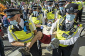 Extinction Rebellion protest blocking road to prevent the Prime Minister attending PMQ���s, Parliament Square, London. - Jess Hurd - 02-09-2020