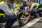 Extinction Rebellion protest blocking road to stop the Prime Minister attending PMQs, Parliament Square, London - Jess Hurd - 02-09-2020