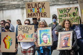 Black Lives Matter culture protest, National Gallery, Trafalgar Square, Westminster, London - Jess Hurd - 05-09-2020