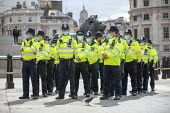Police preparing to close down Citizens Assembly Extinction Rebellion protest using Coronavirus laws, Trafalgar Square, Westminster, London. - Jess Hurd - 05-09-2020