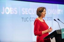 Frances O'Grady speaking at TUC Congress 2020 online, Congress House, London. - Jess Hurd - 14-09-2020