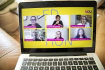 UCU TUC Fringe online event, TUC Congress 2020, Congress House, London. Vicky Blake, Kate Green, Roger McKenzie, Larissa Kennedy, Jo Grady - Jess Hurd - 14-09-2020