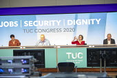 Mary Bousted, NEU, Ged Nichols Accord, Frances O'Grady, Paul Nowak TUC Congress 2020 online, Congress House, London. - Jess Hurd - 14-09-2020