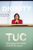 Frances O'Grady speaking at TUC Congress 2020 online, Congress House, London. - Jess Hurd - 15-09-2020