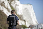 Dover UK Border Force looking for migrants arriving by boat from France, Home Office Immigration Enforcement, St Margaret's Bay, Dover. - Jess Hurd - 21-09-2020