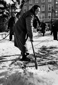 Worker clearing snow, Sofia, Bulgaria 1989, National Museum of History - Melanie Friend - 24-11-1989
