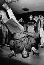 Young Roma man breakdancing, disco, Sofia, Bulgaria, 1989 - Melanie Friend - 02-12-1989