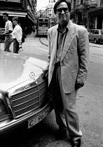 Proud Mercedes Benz owner, central Sofia, Bulgaria 1992 - Melanie Friend - 06-06-1992