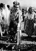 Women wearing traditional dress, 1992 Annual Rose Festival, Kazanlak, Bulgaria - Melanie Friend - 09-06-1992