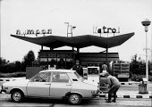 Filling up at a petrol station, Kazanlak, 1992, Valley of the Roses, Bulgaria - Melanie Friend - 10-06-1992