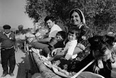 Roma family on the road with puppy, Bulgaria 1993 - Melanie Friend - 26-08-1993