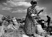 Roma scavenging the municipal rubbish dump, Plovdiv, 1995, salvaging and sorting items for recycling, Bulgaria - Melanie Friend - 29-05-1995