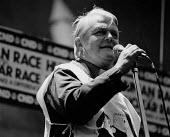 Bruce Kent speaking, CND Rally, Hyde Park, London 1985. Anti nuclear weapons protest - Melanie Friend - 26-10-1985