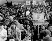 Protestors CND Rally, Hyde Park, London 1985. Anti nuclear weapons protest - Melanie Friend - 26-10-1985