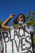 California, USA. Students and teachers protest at the police murder of George Floyd in Minneapolis - David Bacon - 09-06-2019
