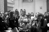 Sheila Rowbotham (L) First National Women's Liberation Conference, Ruskin College, Oxford 1970 - Sally Fraser - 27-02-1970