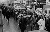 First Women's Liberation Movement protest London 1971. Equal Pay, Free Contraception and Abortion On Demand. First Women's Liberation Movement protest London 1971. Demanding equal education, equal pay... - Sally Fraser - 06-03-1971