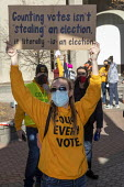 Detroit, USA, protest demanding count every vote as President Donald Trump filed a suit to halt the counting of Michigan ballots in the 2020 presidential election - Jim West - 04-11-2020