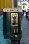 Oaxaca, Mexico, public telephone on a city street - Jim West - 02-02-2020