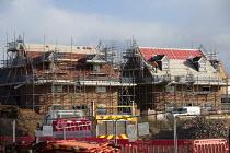 Construction of new luxury homes on the edge of town, Stratford upon Avon, Warwickshire - John Harris - 02-11-2020