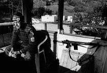 Norwegian UN soldier UNPROFOR observation post 1994, Macedonian and Serbian border - Melanie Friend - 12-10-1994