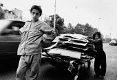 Roma girls collecting cardboard for recycling, Sarajevo, 1989 Yugoslavia - Melanie Friend - 02-05-1989