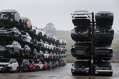 Car scrapyard, Daventry, Northamptonshire. Vehicles damaged in accidents are recycled for parts - John Harris - 28-11-2020