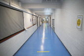 Empty corridor, Lansbury Lawrence Primary School during Covid pandemic lockdown, Poplar, East London. - Jess Hurd - 27-11-2020