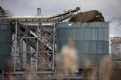 Avonmouth explosion killed four workers. Damaged silo, Wessex Water Treatment plant near Bristol. A chemical tank that treated biosolids exploded killing four including a teenager who were working ont... - Paul Box - 05-12-2020