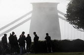 People not socially distancing. Clifton suspension bridge in the fog, Clifton, Bristol - Paul Box - 22-11-2020