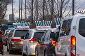 Michigan, USA. Car Top Menorah Parade, fourth night of Hanukkah. Happy Chanukah - Jim West - 13-12-2020