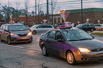 Michigan, USA. Car Top Menorah Parade, fourth night of Hanukkah - Jim West - 13-12-2020