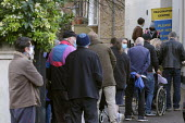 Queuing, Covid-19 Vaccination Centre, Essex House Surgery, Barnes, London - Duncan Phillips - 20-12-2020