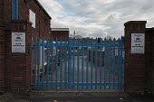 Closed primary school, Birmingham. Closed gates of Brookfield Primary School, Hockley, unable to open due to staffing issues and safety concerns. - John Harris - 04-01-2021