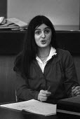 Sue Slipman speaking, SDP conference 1982. She left the Communist Party to join the SDP as a founder member - Martin Mayer - 14-02-1982