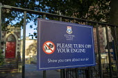 Please Turn off your engine sign, Clifton College nursery, Bristol. Show you care about our air. Encouraging parents to switch off their car engines when collecting and dropping off their children - Paul Box - 10-01-2021