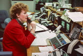 Woman trader City of London 1986 after the Big Bang which moved much trading away from the Stock exchange - Martin Mayer - 01-10-1986