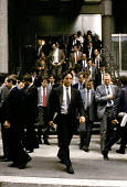 Traders poring out of The Stock Exchange, 1986, The City of London - Martin Mayer - 01-10-1986
