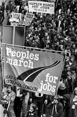Peoples March for Jobs Cardiff Wales 1981 Liverpool to London march against unemployment, cuts and closures. - NLA - 04-07-1981