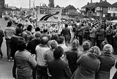 Peoples March for Jobs 1983 arriving in West Bromwich being welcomed with applause - NLA - 20-05-1983