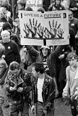 Give Us A Future, 1981. Protest against unemployment, factory closures and cuts, Birmingham. Peoples Campaign For Jobs - Peter Arkell - 19-09-1981