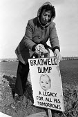 Protest against NIREX nuclear disposal site, Bradwell, Essex 1986 dump at the site of the nuclear power staion - Peter Arkell - 31-08-1986