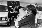 Locals protest against nuclear waste, Bradwell, Essex 1986 dump at the site of the nuclear power staion - Peter Arkell - 31-08-1986