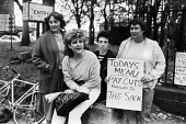 NUPE Hospital workers strike against privatisation, North East 1986 - Peter Arkell - 30-09-1986